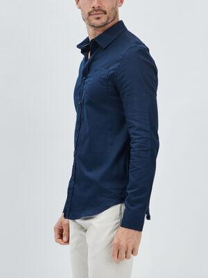Chemise manches longues Creeks bleu marine homme
