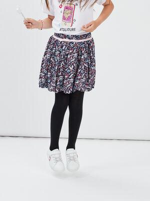 Jupe evasee taille elastiquee multicolore fille
