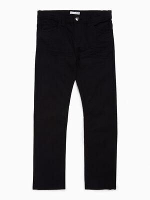 Pantalon droit uni coton majoritaire noir garcon