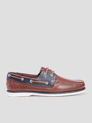 Chaussures bateau marron homme