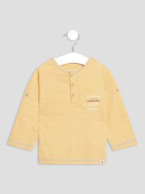 T shirt manches longues Creeks jaune bebeg