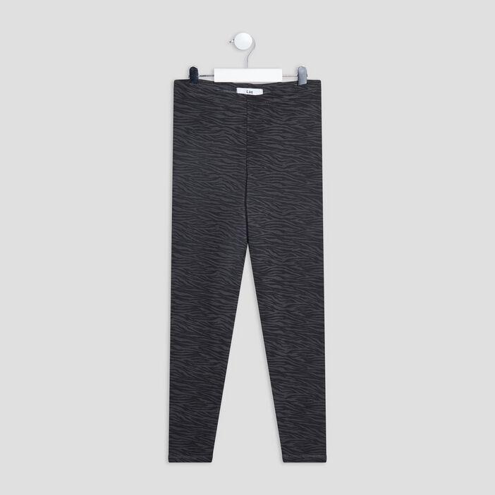 Legging taille standard fille gris foncé