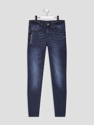 Jeans slim detail zippe denim blue black garcon