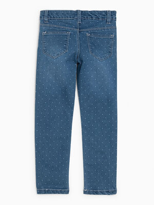Jean imprime coupe slim denim double stone fille
