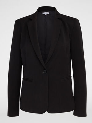 Veste extensible unie cintree noir femme