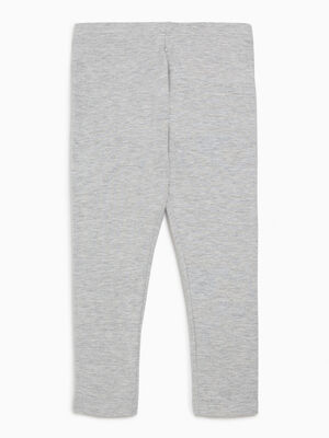 Legging coton majoritaire uni gris fille