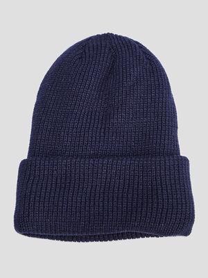 Bonnet bleu marine homme