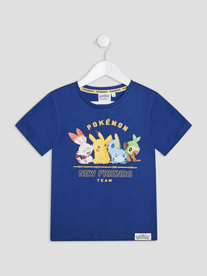 T shirt Pokemon bleu garcon