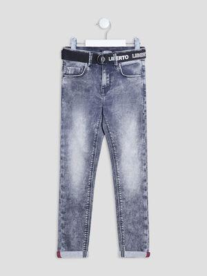 Jeans slim ceinture Liberto denim noir garcon