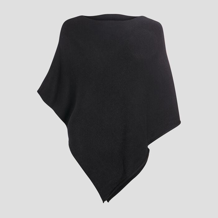 Poncho asymétrique femme noir