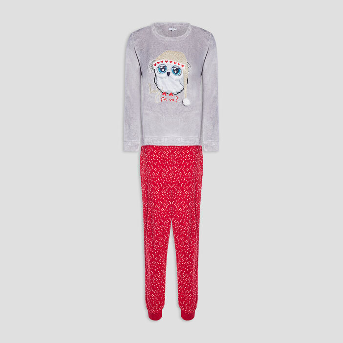 Ensemble de pyjama femme gris
