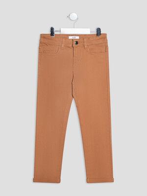 Pantalon regular stretch camel garcon