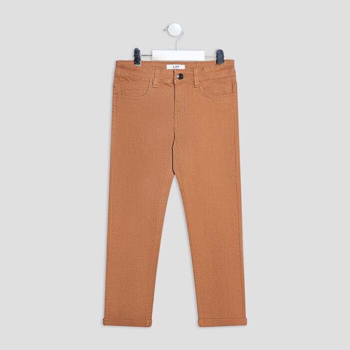 Pantalon regular stretch garçon camel