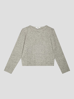 Pull manches longues gris fille