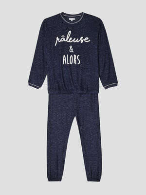 Ensemble pyjama bleu marine fille