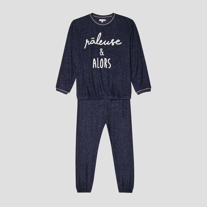 Ensemble pyjama fille bleu marine