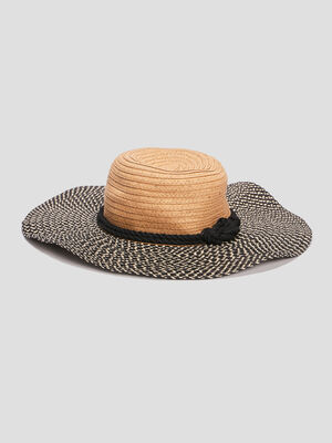 Chapeau capeline tresse multicolore mixte
