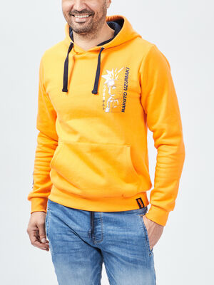 Sweat a capuche Naruto orange homme