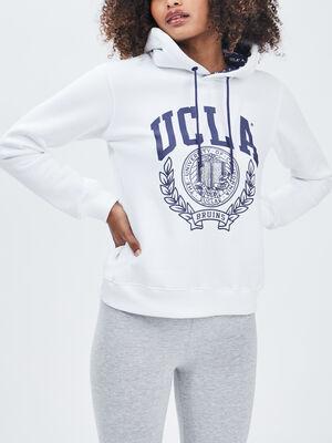 Sweat a capuche UCLA blanc femme