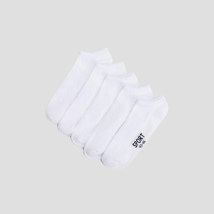 Socquettes de sport homme blanc