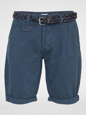 Bermuda short bleu marine homme