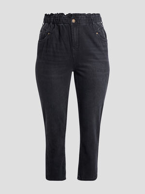 Jeans slouchy noir femmegt
