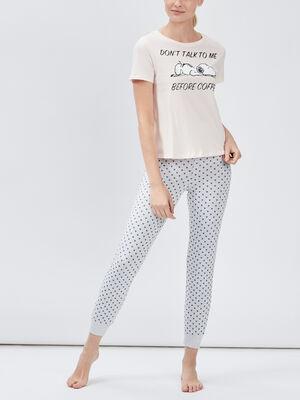Ensemble pyjama Snoopy rose femme