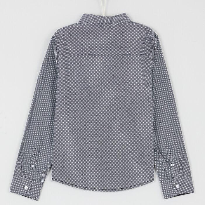 Chemise imprimée en coton mélangé garçon noir