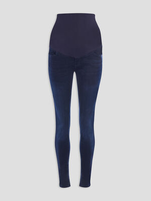 Jegging de grossesse denim blue black femme