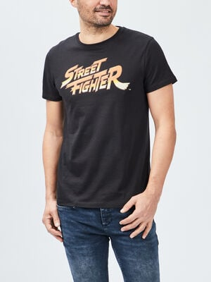 T shirt Street Fighter noir homme