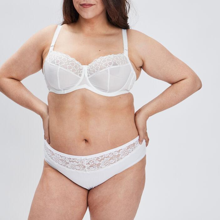 Soutien-gorge emboîtant femme grande taille ecru