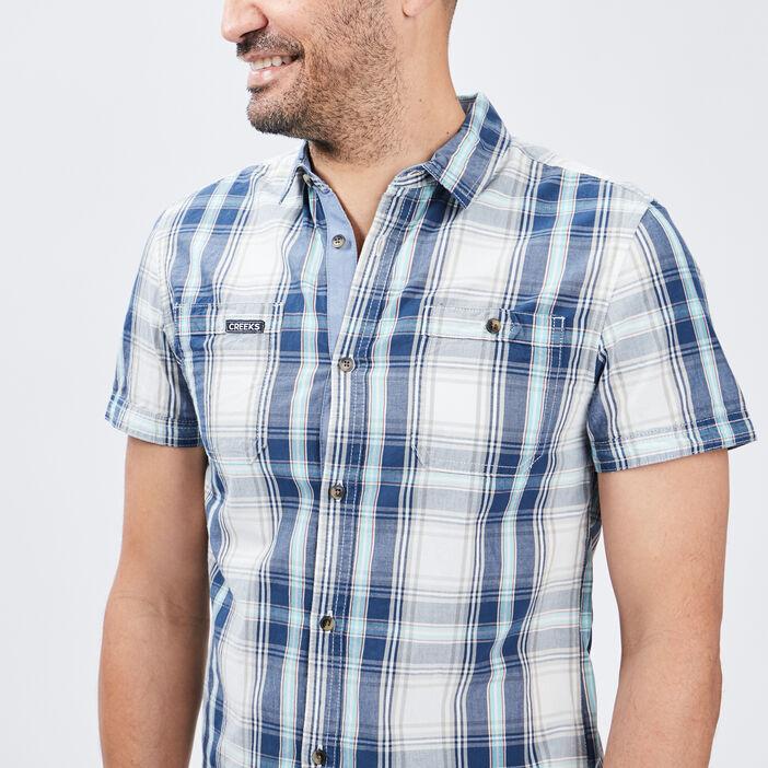 Chemise manches courtes Creeks homme bleu