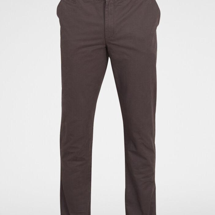 Pantalon droit uni homme gris foncé