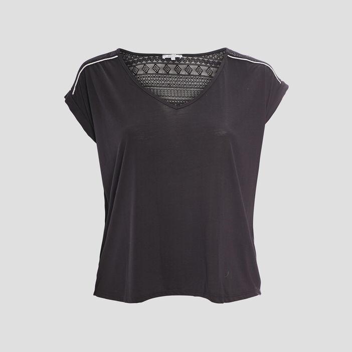 T-shirt grande taille femme grande taille noir