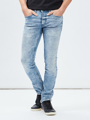 Jeans slim Creeks denim bleach homme