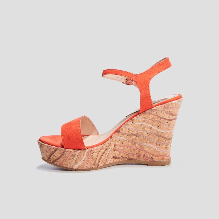 Sandales compensées Mosquitos femme rouge