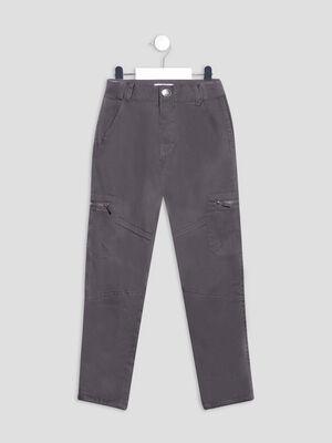 Pantalon droit gris fonce garcon
