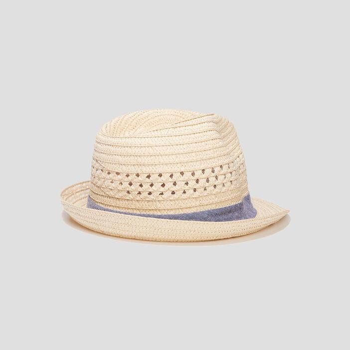 Chapeau borsa ajouré homme beige