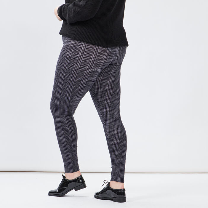 Pantalon legging grande taille femme grande taille gris fonce