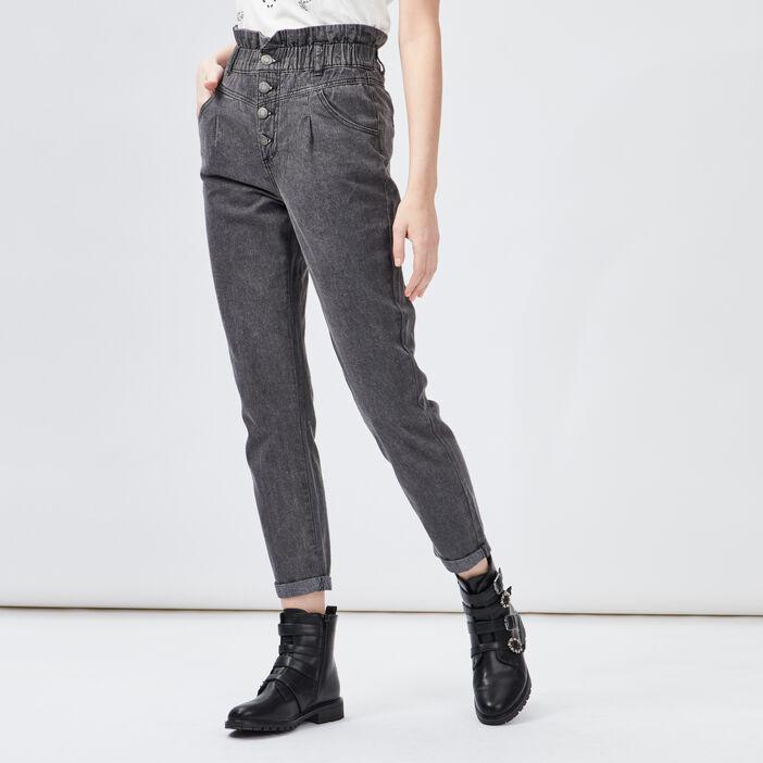 Jeans slouchy femme noir