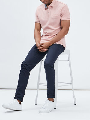 Polo manches courtes rose homme