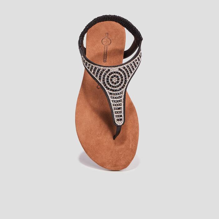 Sandales à strass Mosquitos femme noir