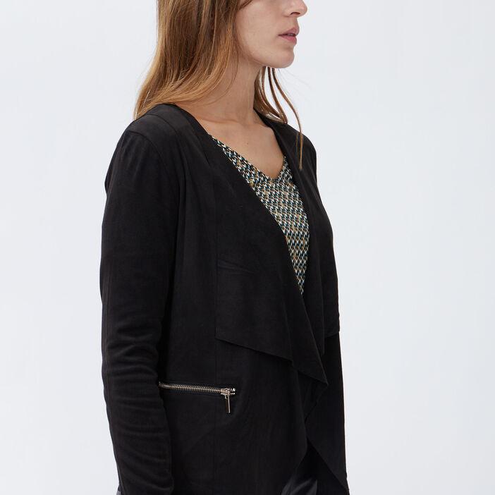 Veste ample asymétrique femme noir