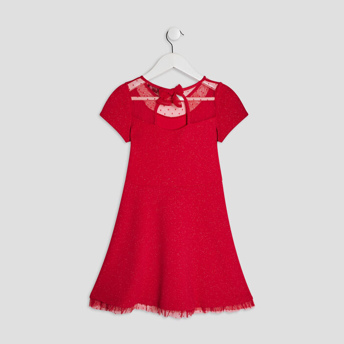 Robe patineuse Liberto fille rouge