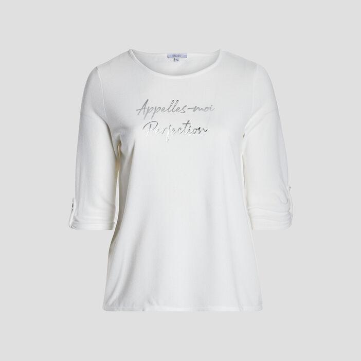 T-shirt femme grande taille ecru