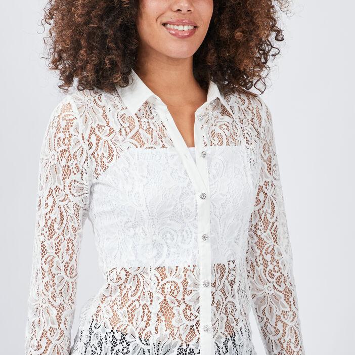 Chemise à dentelle Mosquitos femme ecru