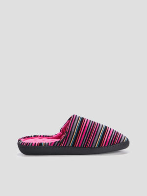 Chaussons mules multicolore femme