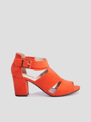 Sandales a talon Liberto rouge femme
