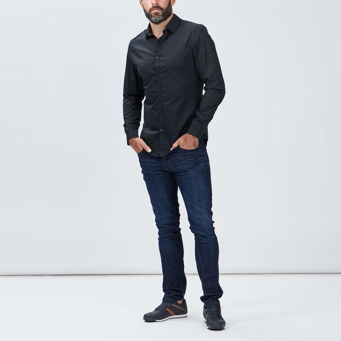 Chemise manches longues homme noir