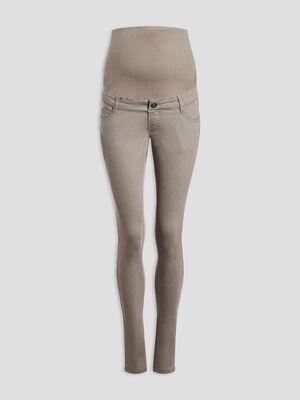 Pantalon slim grossesse vert kaki femme